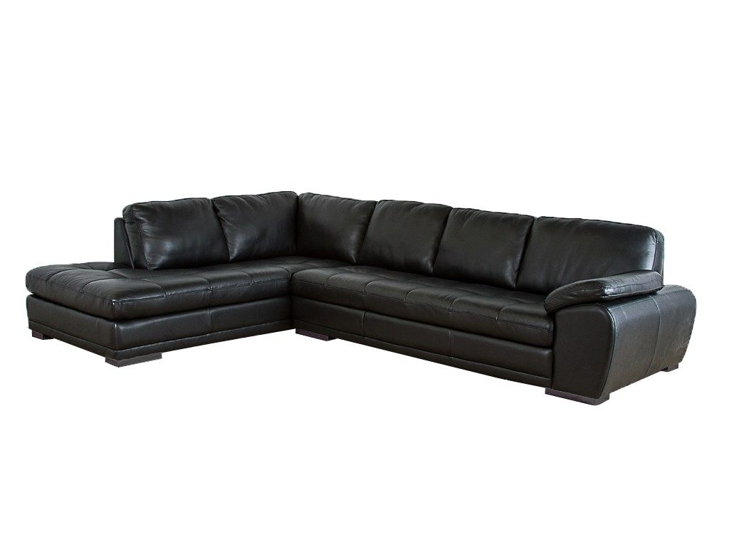 Best And Newest Palliser Furniture Miami Sectional In Black Bonded Leather 395495 With Grand Rapids Mi Sectional Sofas (View 2 of 20)