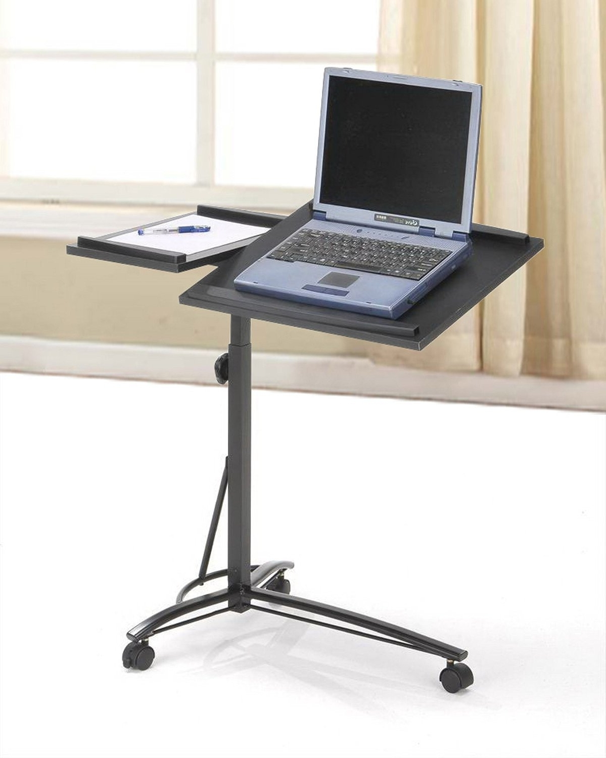 on desk bedside bk pin laptop wheels portable computer side notebook stand ebay mobile table