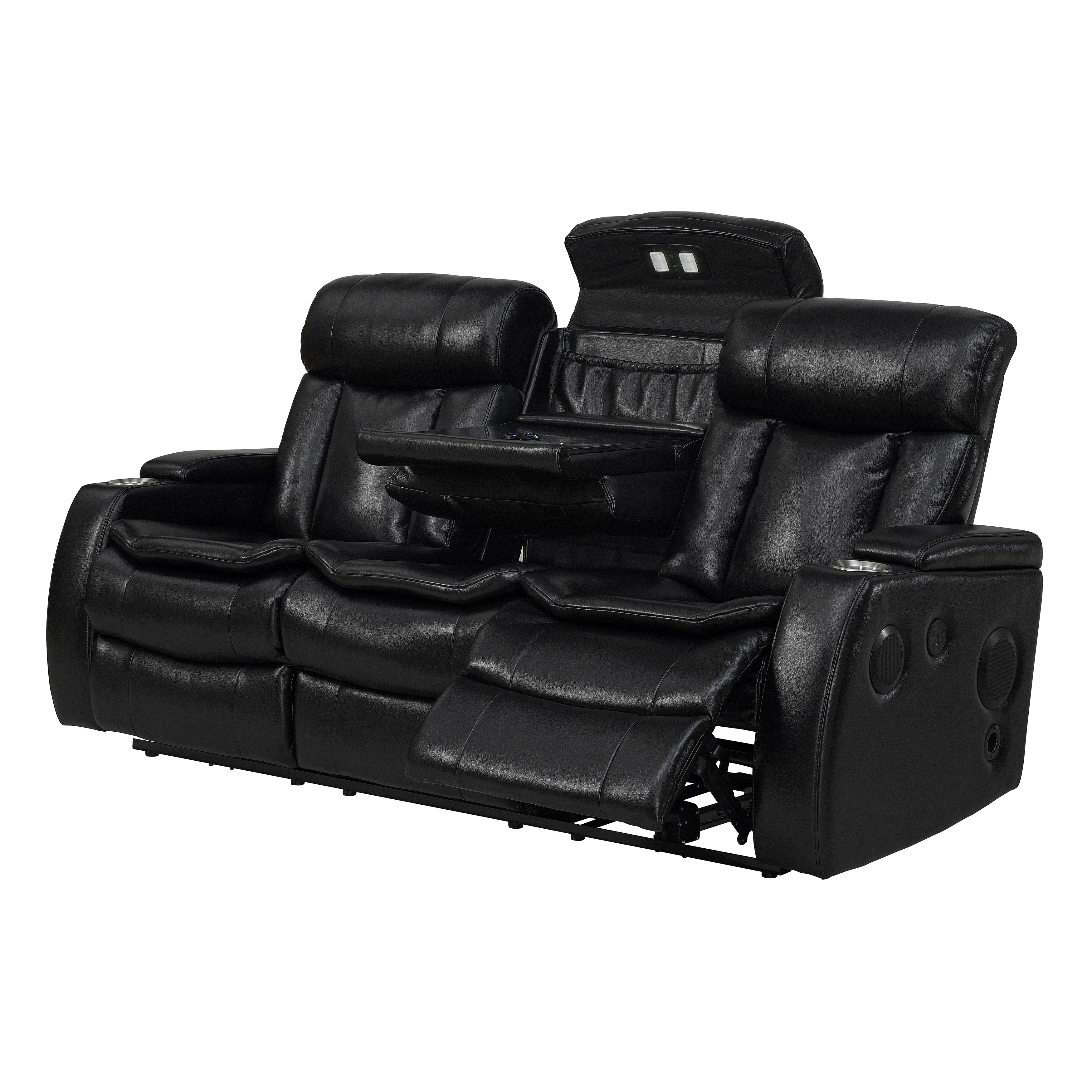 Best And Newest Recliner Sofas With Bluetooth Black Power Recliner Sofa With Usb – Free Shipping Today (View 2 of 17)
