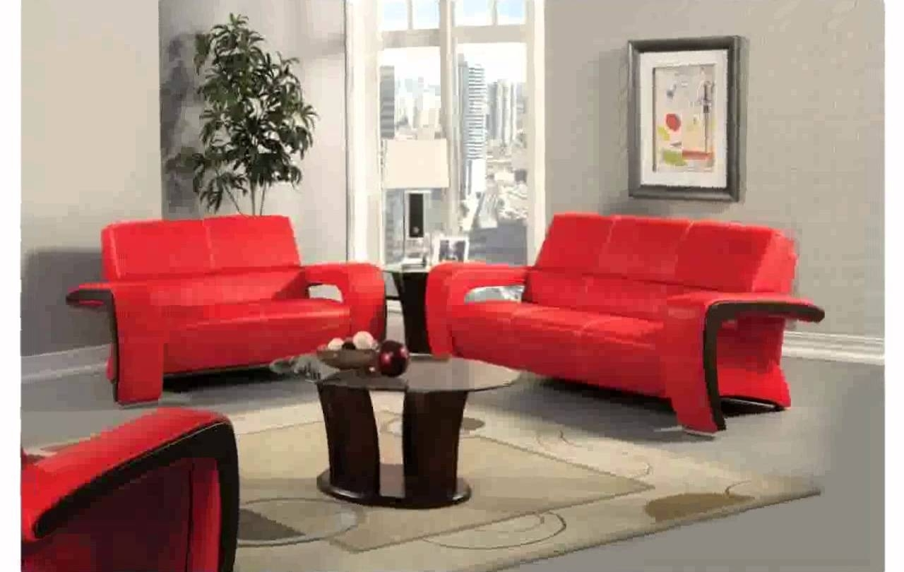 Best And Newest Red Leather Couch Decorating Ideas – Youtube Intended For Red Leather Couches For Living Room (View 2 of 20)