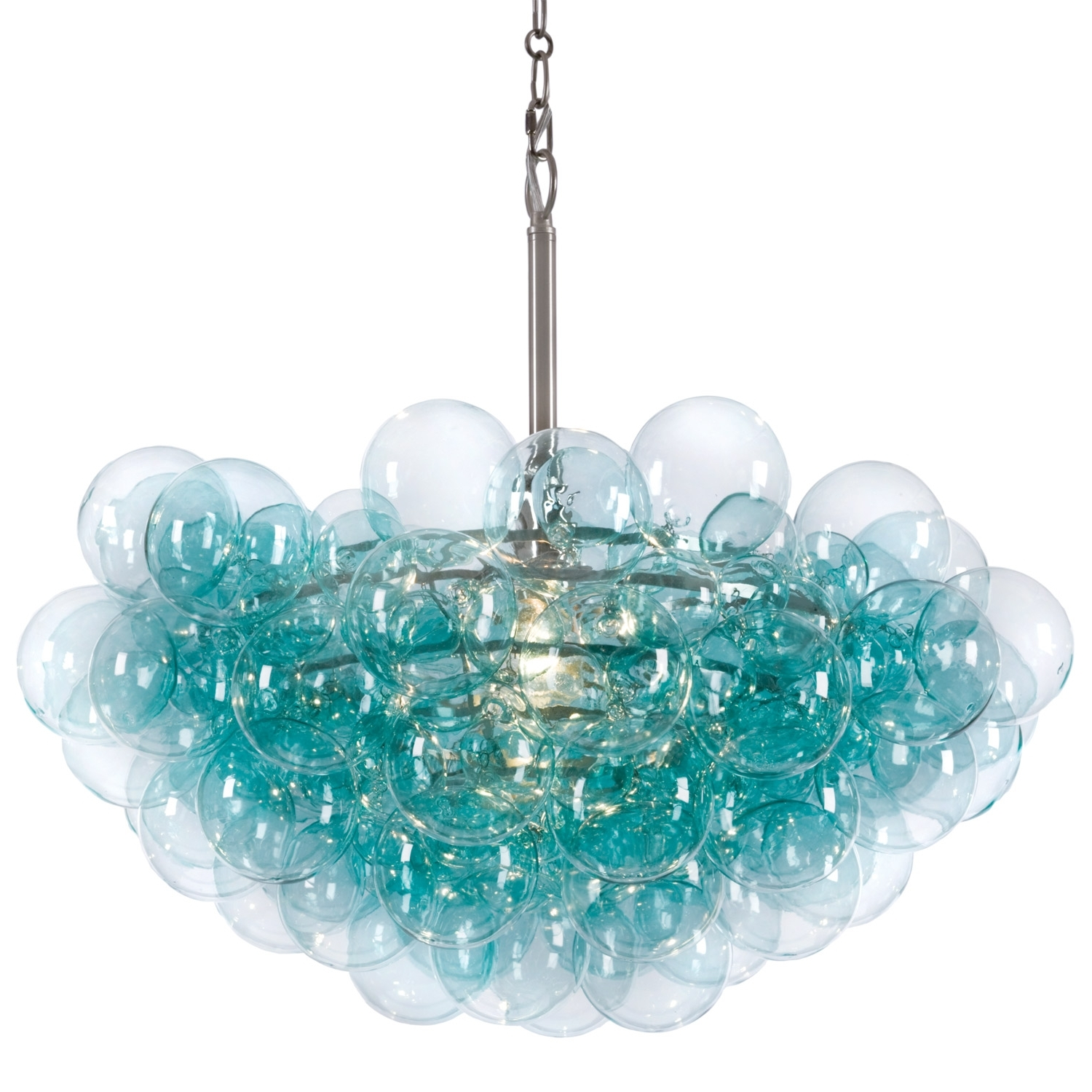 Best And Newest Regina Andrew Aqua Bubbles Chandelier @zinc Door ( For Over Dining Within Turquoise Ball Chandeliers (View 3 of 20)