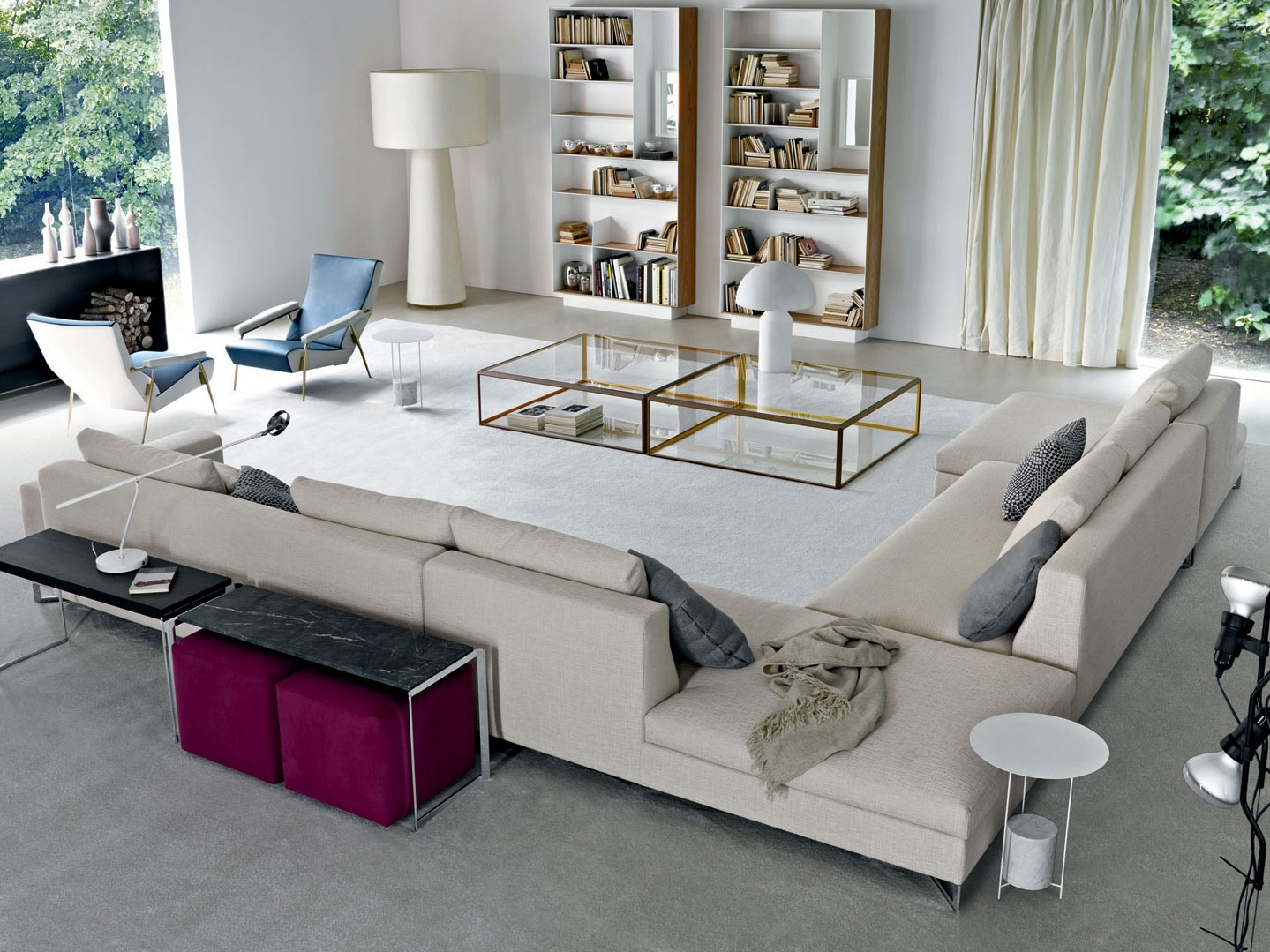 Best And Newest Sofa : Sectional Sofa With Oversized Ottoman Oversized Microfiber With Large Sectional Sofas (View 15 of 20)