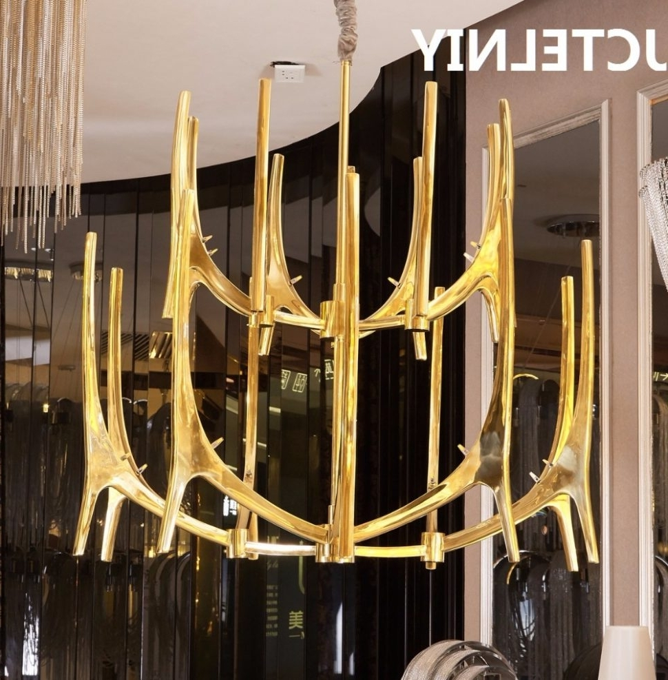Best And Newest Turquoise Antler Chandeliers Within Chandeliers Design : Fabulous Unique Antler Chandelier Wonderful (View 5 of 20)