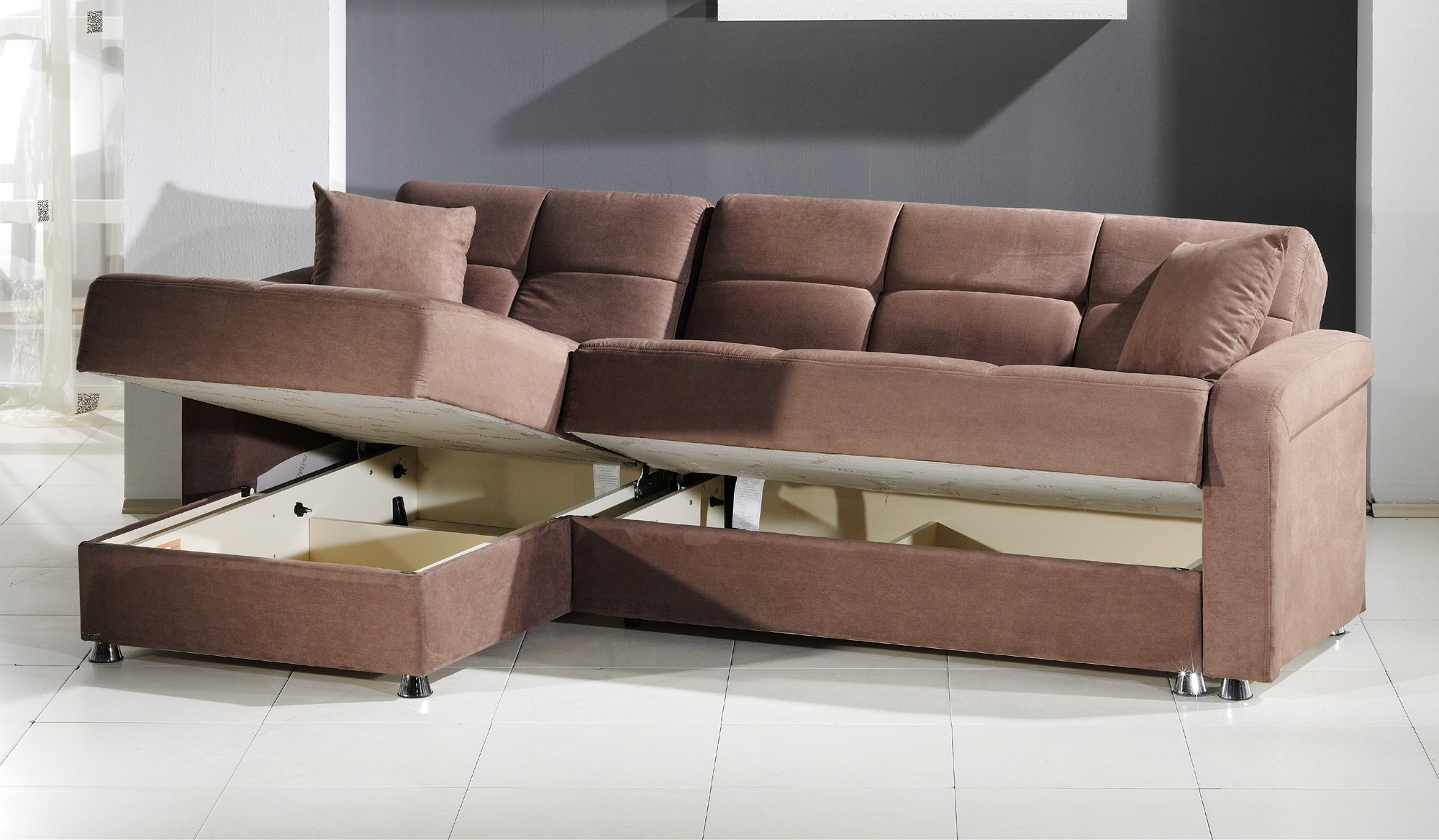 Best And Newest Vision Convertible Sectional Sofa In Rainbow Truffleistikbal Pertaining To Convertible Sectional Sofas (View 6 of 20)