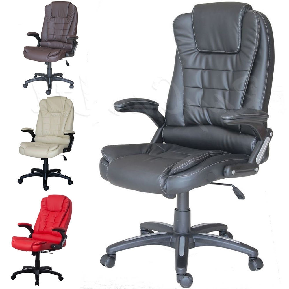 Best Choice Products Executive Ergonomic Heated Vibrating Computer Throughout Well Known Executive Reclining Office Chairs (View 3 of 20)