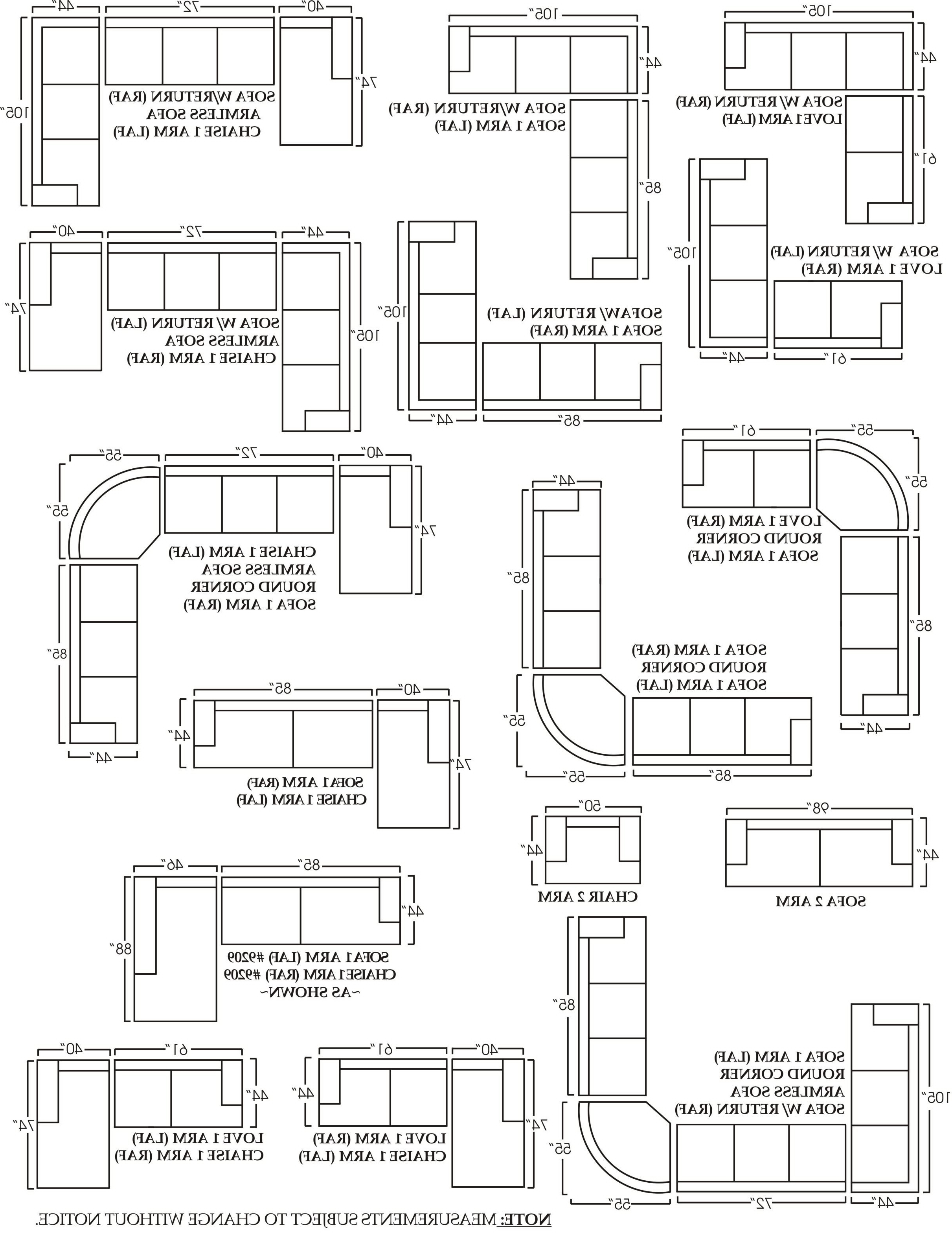Best Of Sectional Sofa Measurements – Buildsimplehome Pertaining To Famous Measurements Sectional Sofas (View 2 of 20)