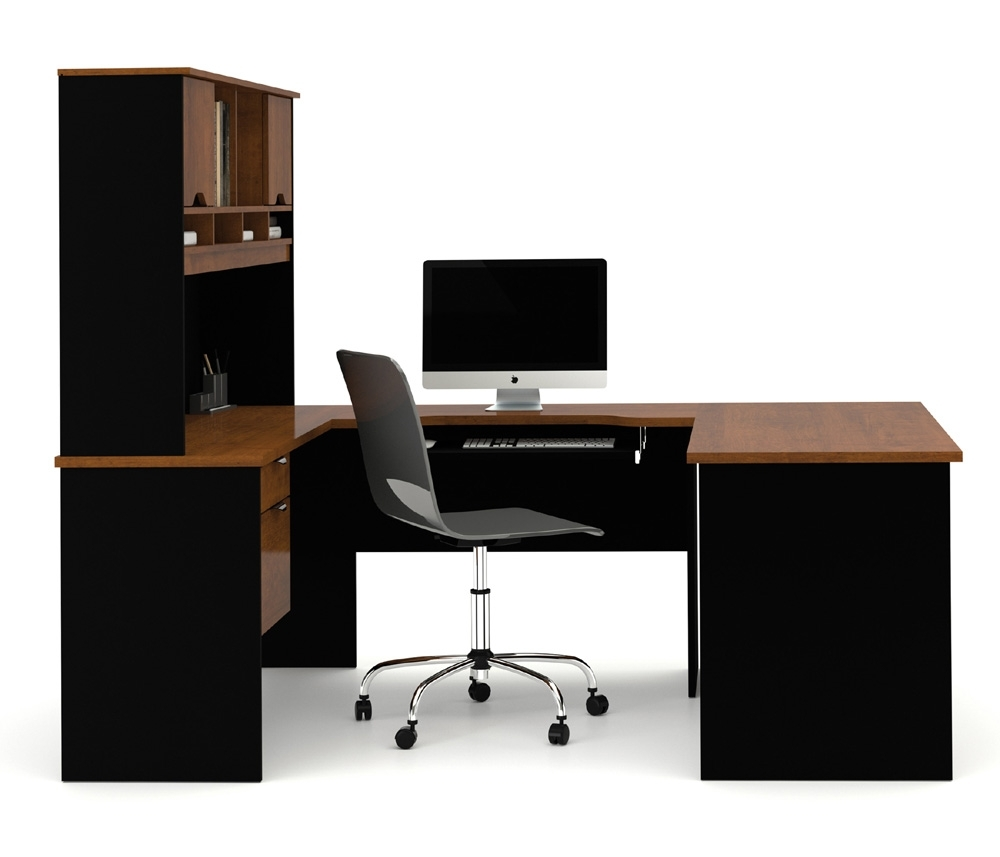 Bestar Innova Tuscany Brown U Shaped Computer Desk 92850 63 With Regard To Widely Used U Shaped Computer Desks (View 2 of 20)