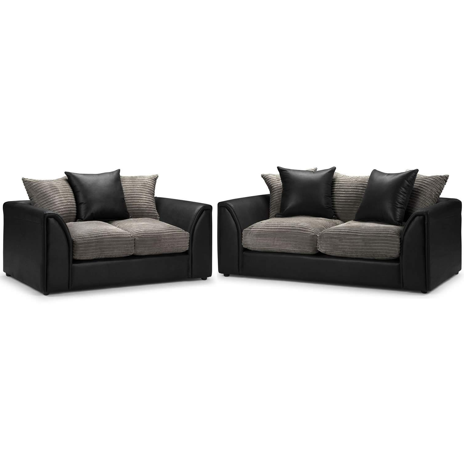 Black 2 Seater Sofas With Regard To Current Byron 3 And 2 Seater Sofa Suite – Next Day Delivery Byron 3 And  (View 7 of 20)