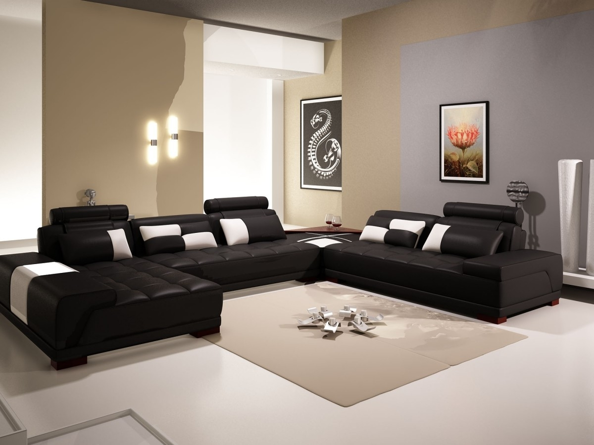 Black And White Living Room Chairs Trend With Photos Of Black And Throughout Current Living Room Sofa Chairs (View 5 of 20)