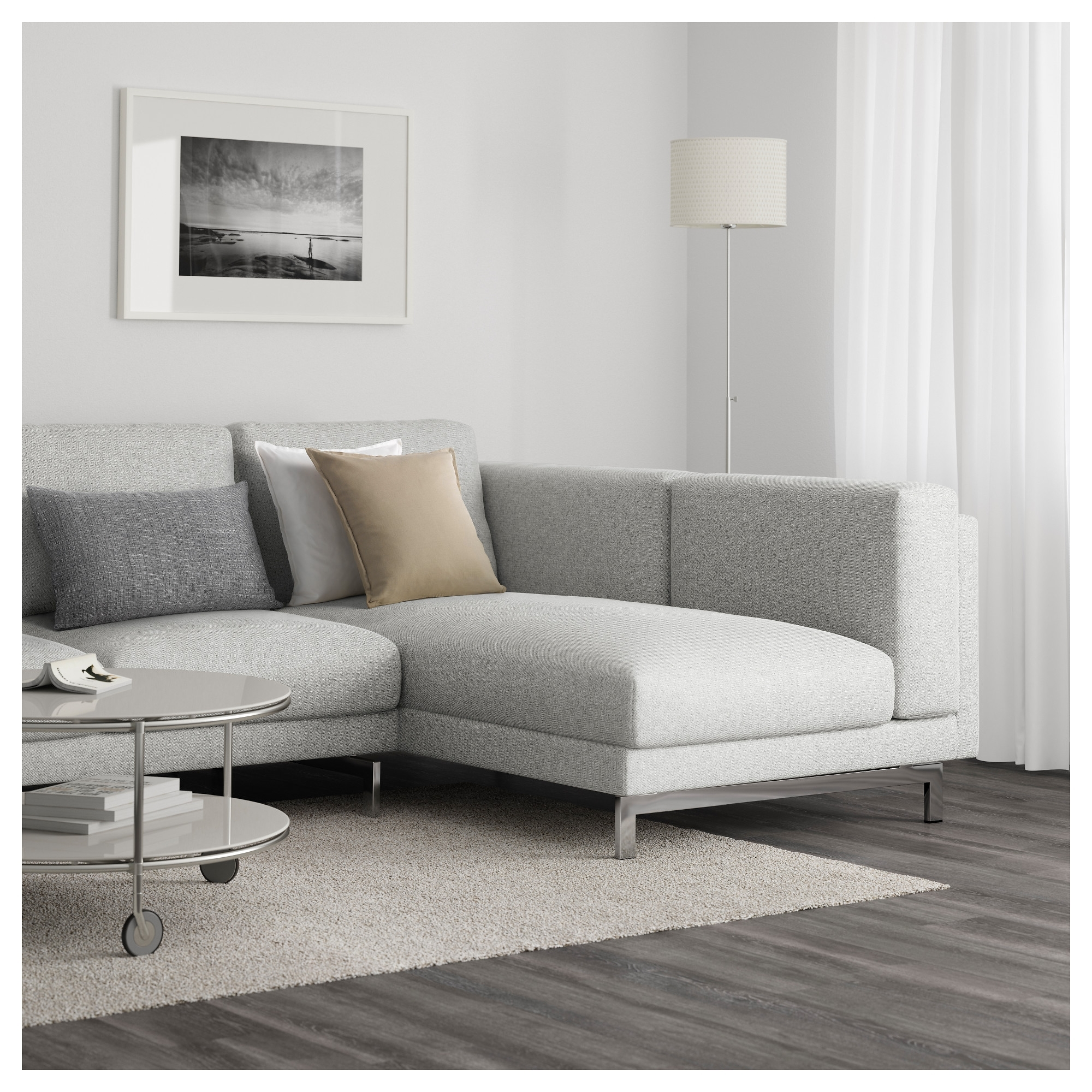 Black And White Sofas Pertaining To Newest Nockeby Sofa – With Chaise, Left/tallmyra White/black, Chrome (View 5 of 20)