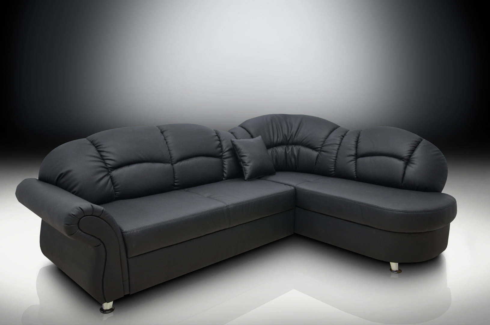 Black Corner Sofas – A Perfect Mix Of Luxury, Comfort, Style For Pertaining To 2018 White Leather Corner Sofas (View 2 of 20)