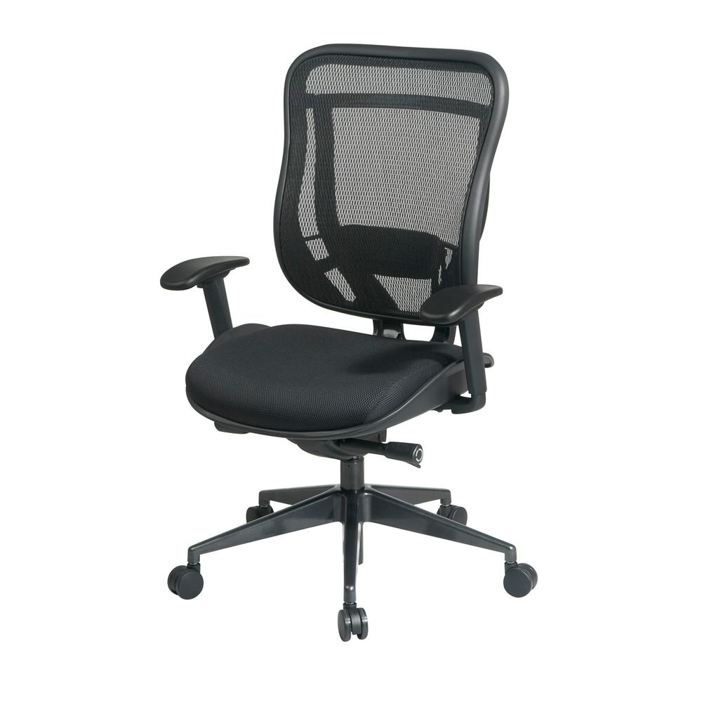 Black Executive Office Chairs With High Back Inside Newest Space Seating 818 Series Black High Back Executive Office Chair (View 4 of 20)