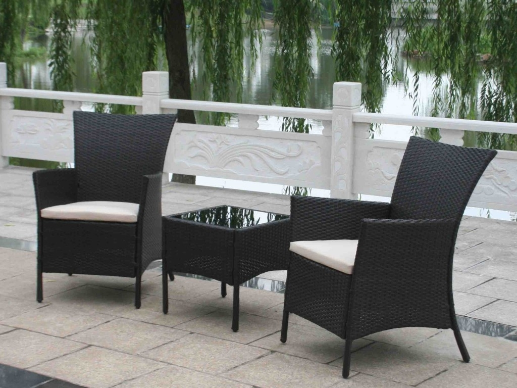 Black High End Outdoor Furniture (View 3 of 20)