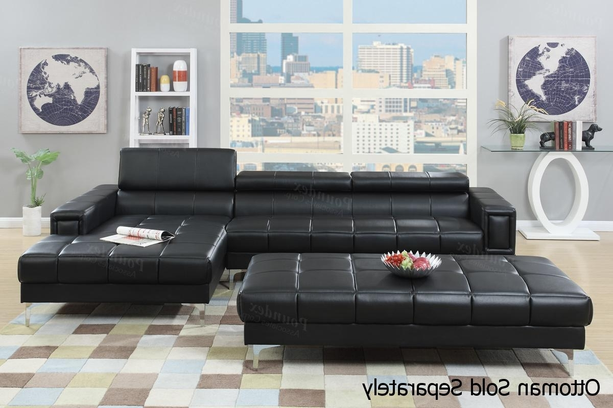 Black Leather Sectional Sofa – Steal A Sofa Furniture Outlet Los Inside 2018 Black Sectional Sofas (View 3 of 20)