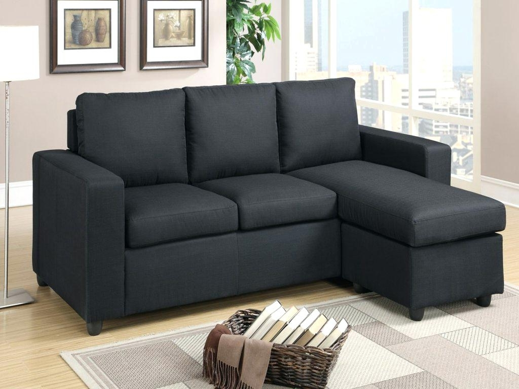 Black Sectional Couch Microfiber Sofa With Chaise Leather Cheap Inside Most Up To Date Cheap Black Sofas (View 3 of 20)