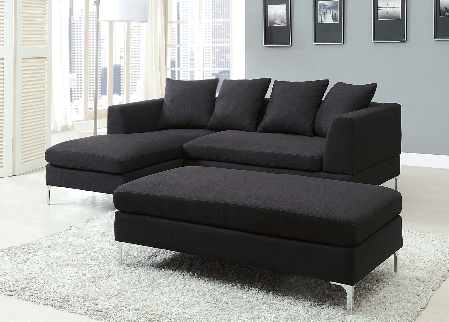 Black Sectional Sofas Regarding Most Recent Black Sectional Couch Cheap — Radionigerialagos (Gallery 7 of 20)