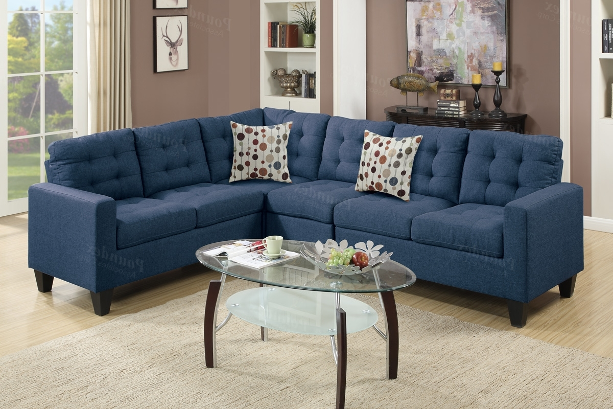 Blue Sectional Sofas Inside Well Known Blue Fabric Sectional Sofa – Steal A Sofa Furniture Outlet Los (View 3 of 20)
