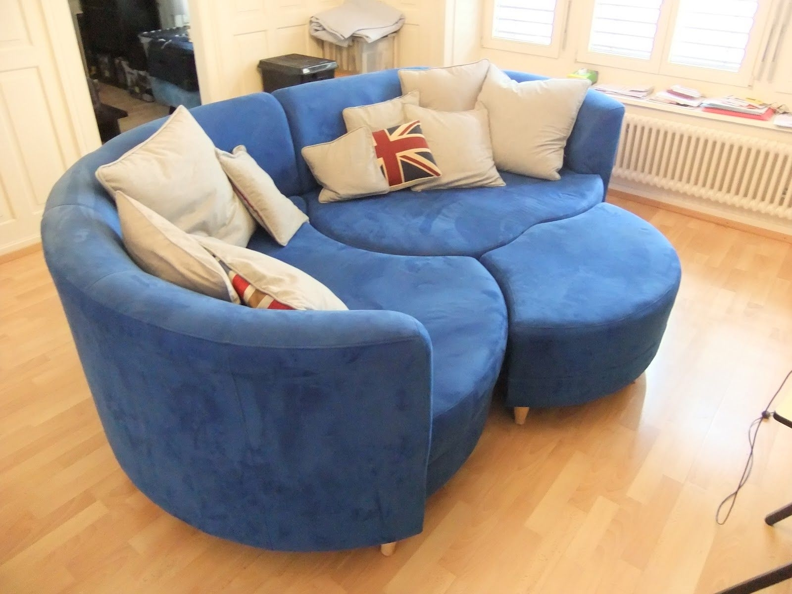 Blue U Shaped Sectionals Within Latest U Shaped Dark Blue Couch Leather U Shaped Sofa Sale Furniture (View 3 of 20)