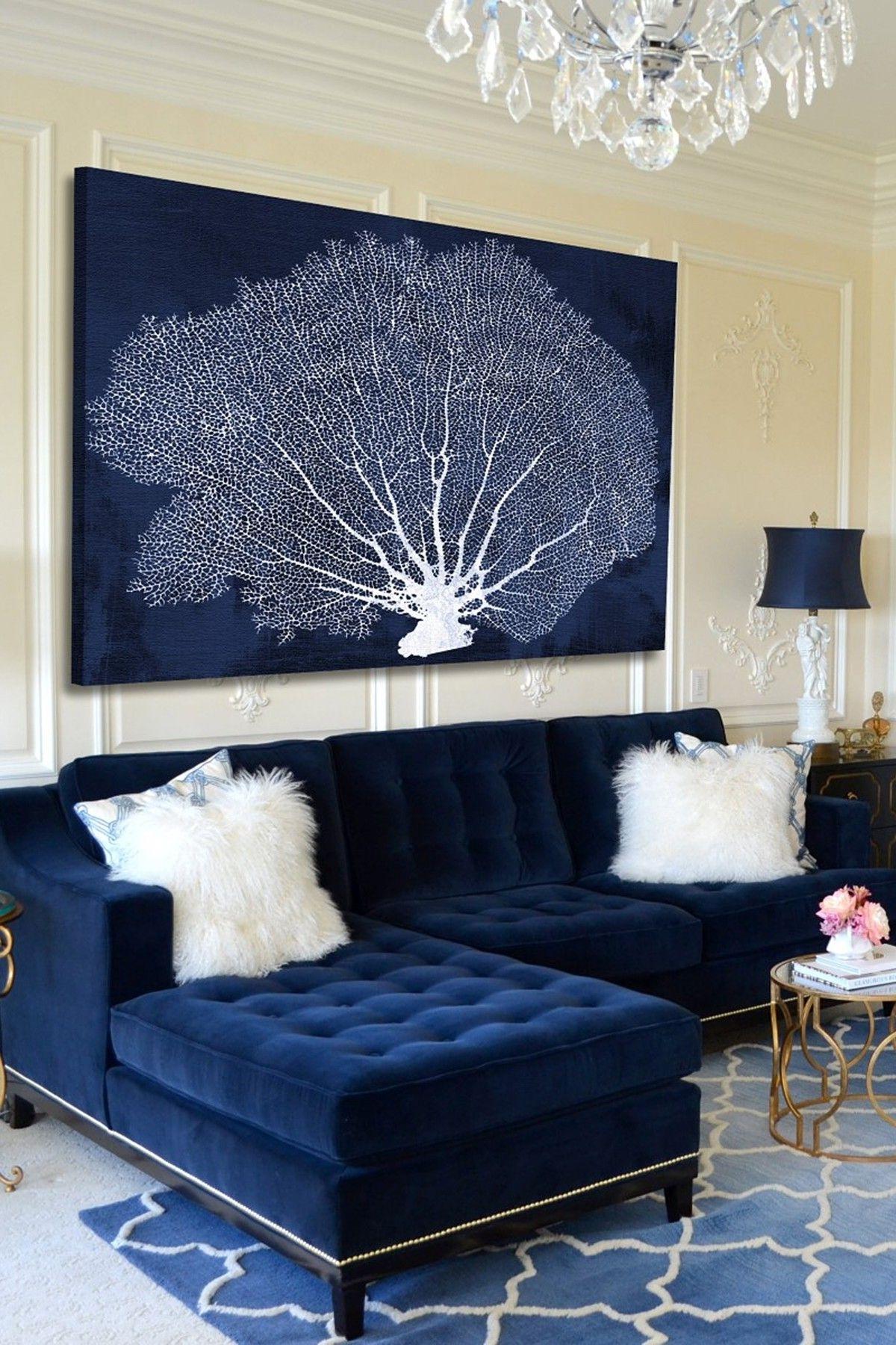 Blue Velvet Sofa (View 18 of 20)