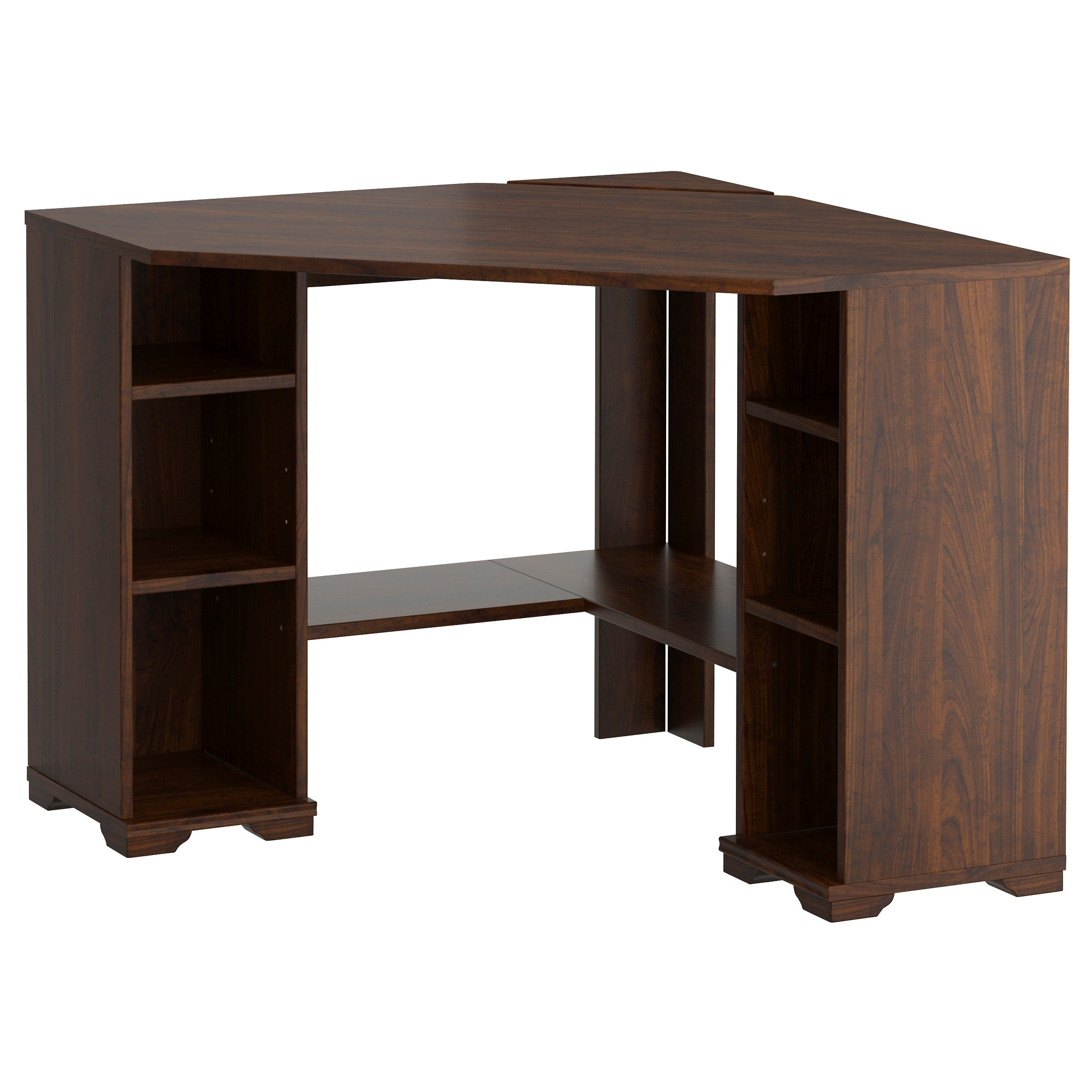 Borgsjö Corner Desk – Ikea (Not My Favorite, But It Would Work For Pertaining To Most Current Brown Computer Desks (View 3 of 20)