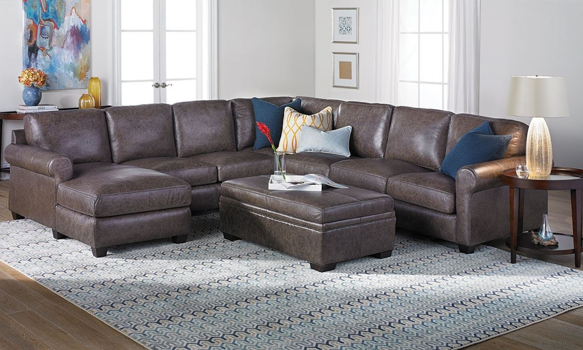 Bradley Top Grain Leather & Feather Sectional Sofa (View 2 of 20)
