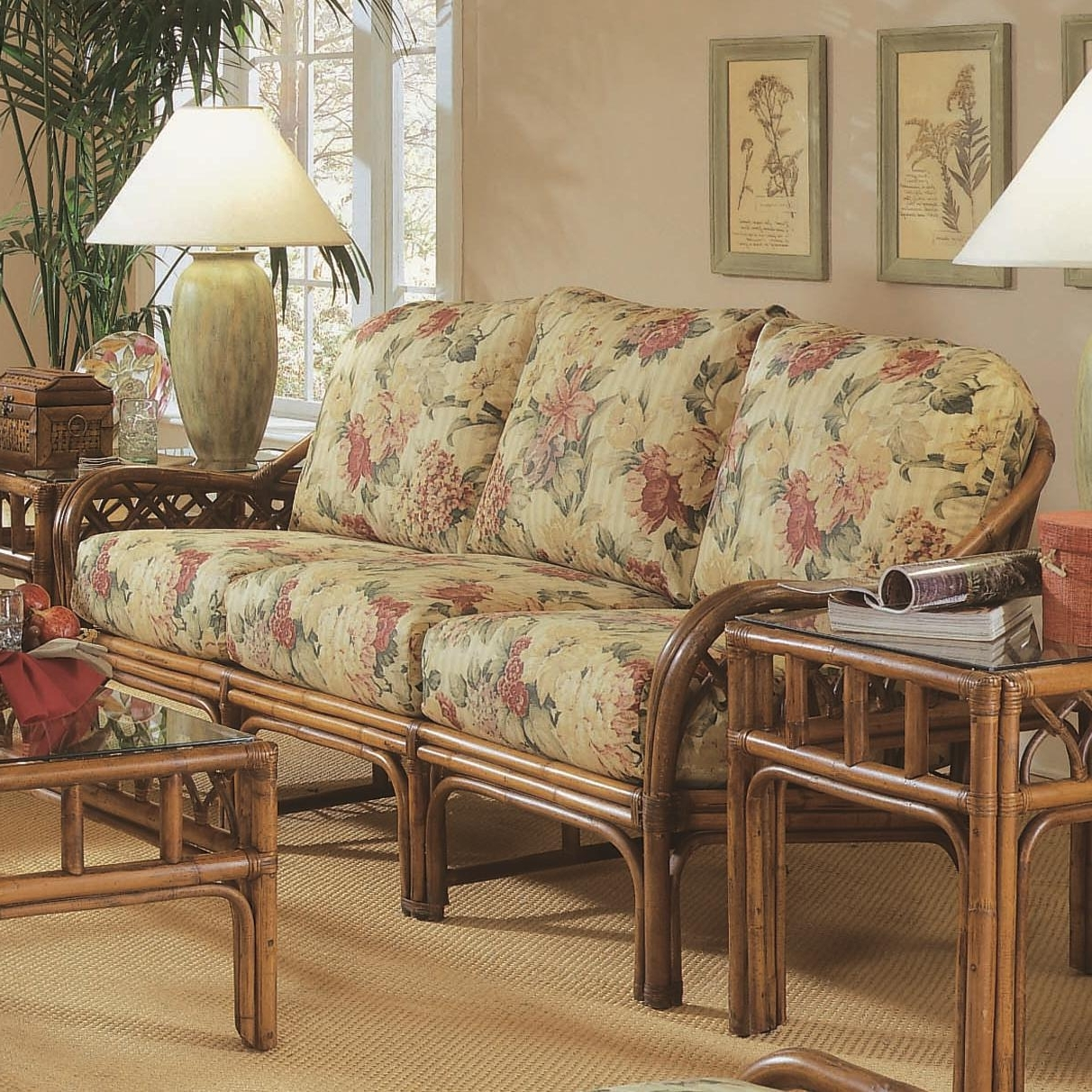 Braxton Culler Edgewater Tropical Rattan Sofa With English Arms Regarding 2018 Braxton Sofas (View 20 of 20)