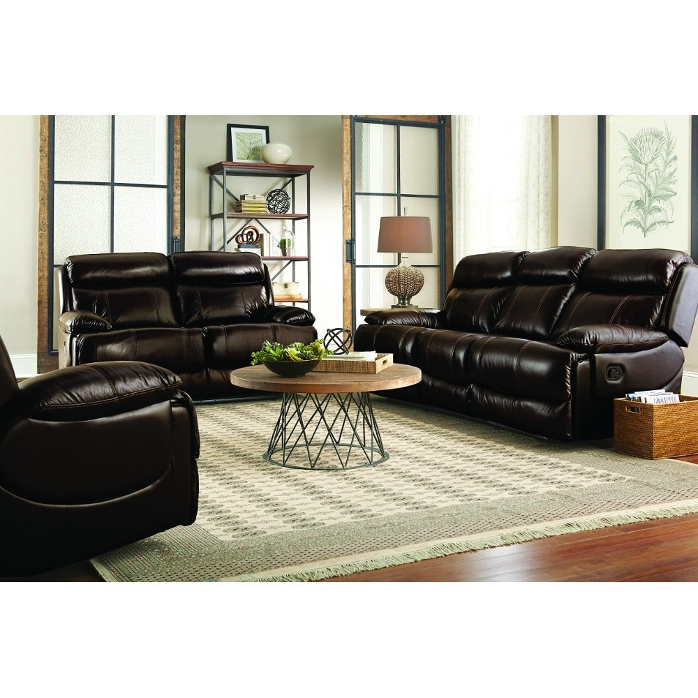 Braxton Leather Living Room – Reclining Sofa & Loveseat (uxw9872 Regarding Well Liked Braxton Sofas (View 12 of 20)