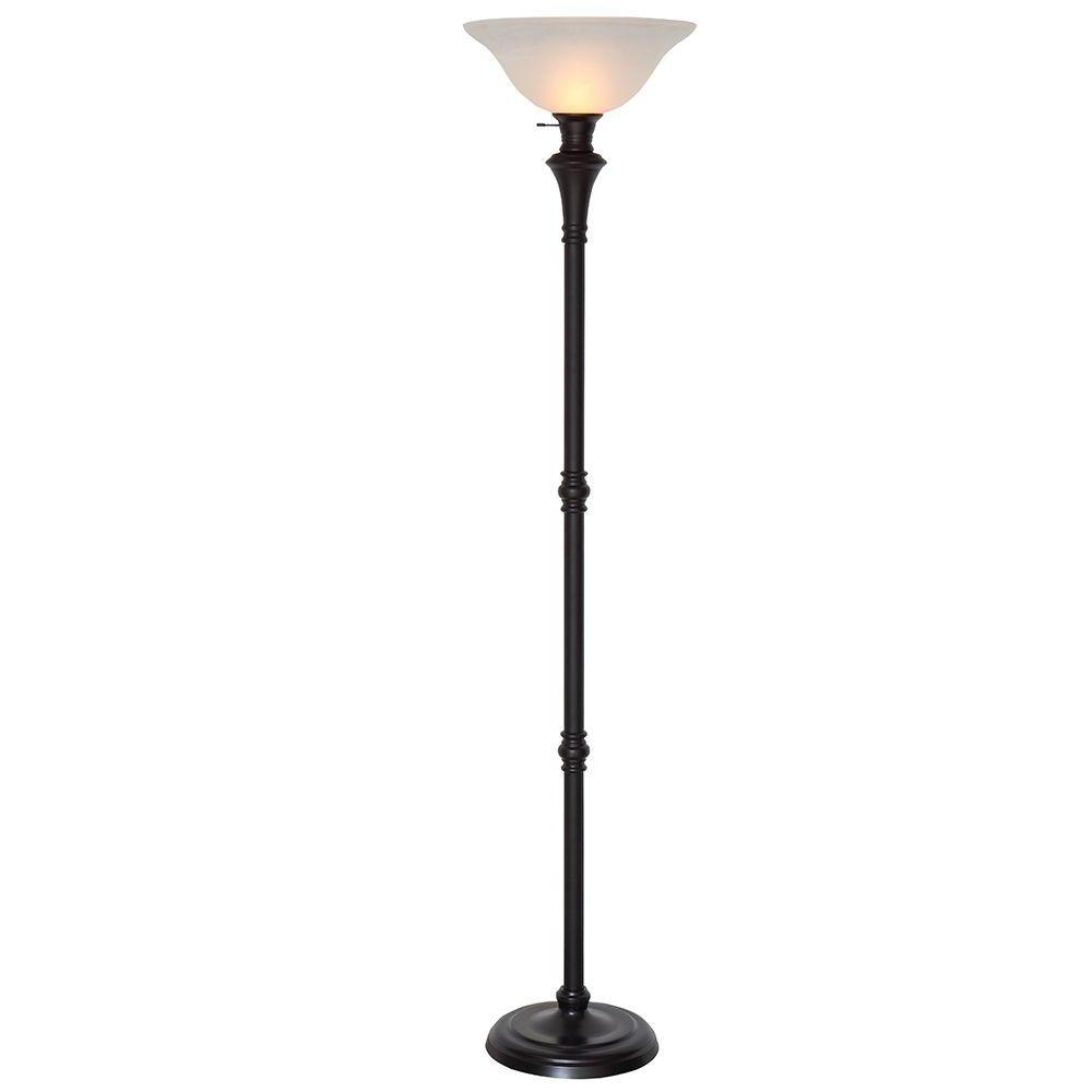 Bronze – Floor Lamps – Lamps – The Home Depot With Regard To Trendy Standing Chandelier Floor Lamps (View 4 of 20)