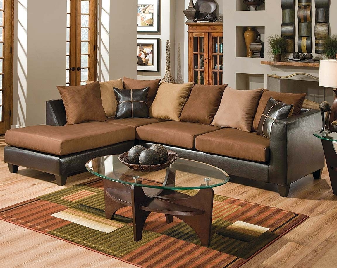 Brown Couch With Chaise (View 9 of 20)