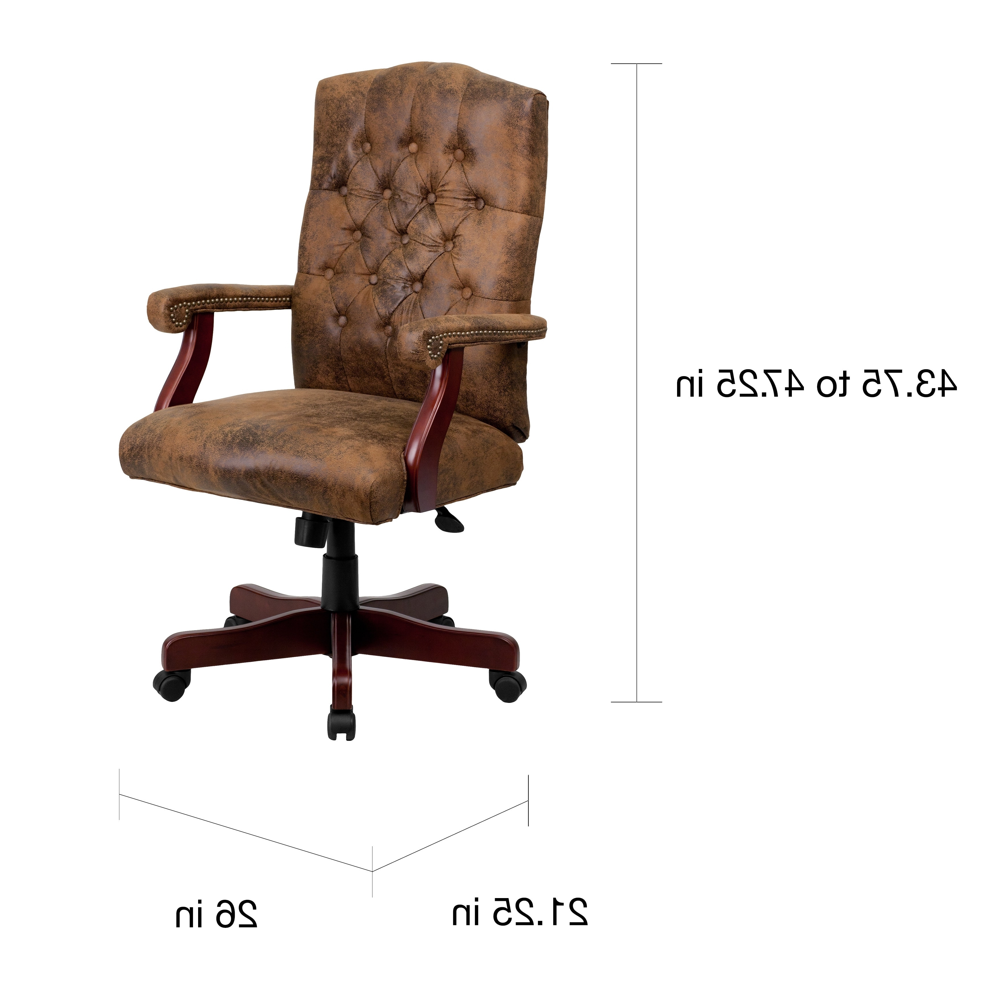 Brown Executive Office Chairs Intended For Well Known Bomber Brown Classic Executive Office Chair – Free Shipping Today (View 8 of 20)