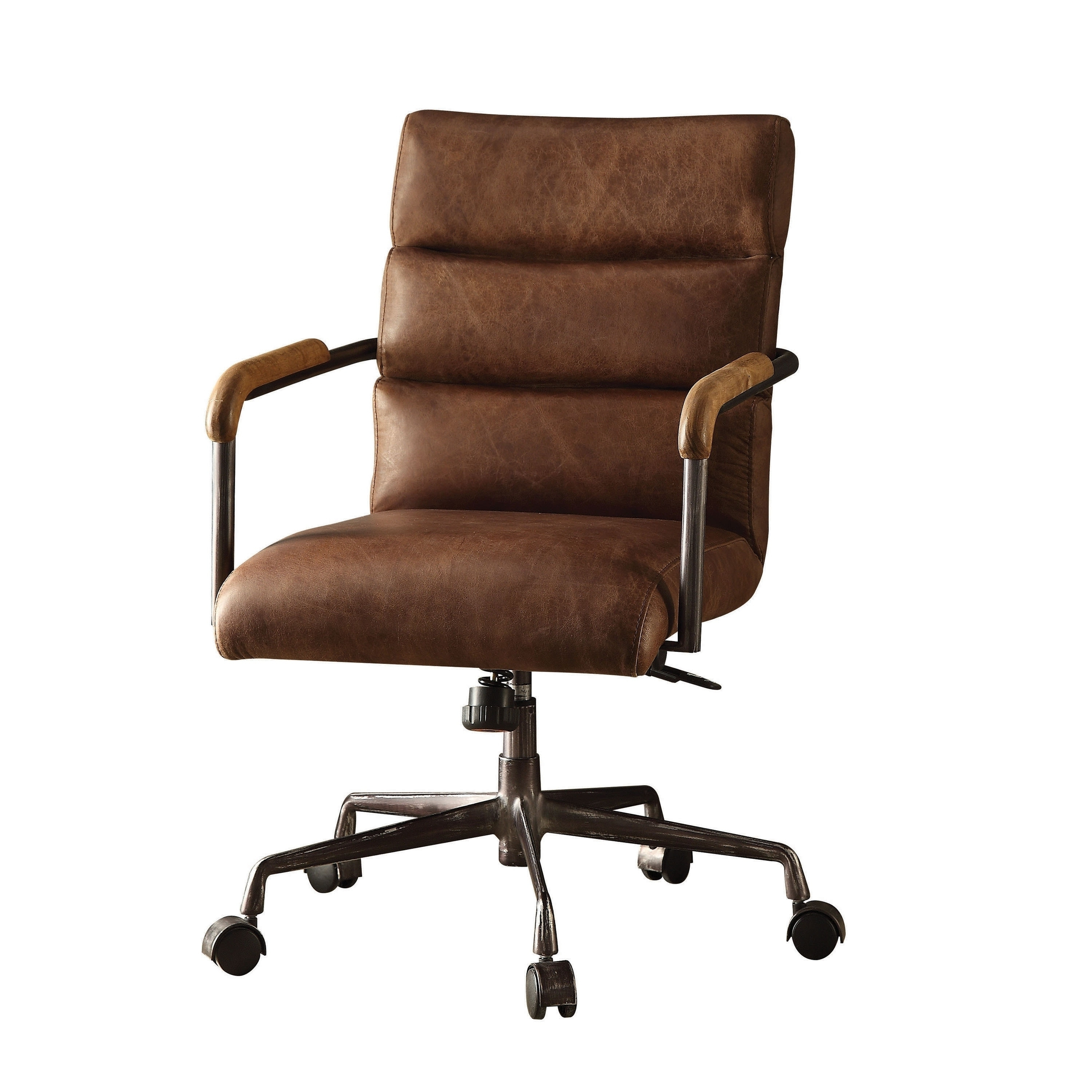 Brown Executive Office Chairs With Regard To Most Up To Date Acme Harith Retro Brown Top Grain Leather Executive Office Chair (View 18 of 20)