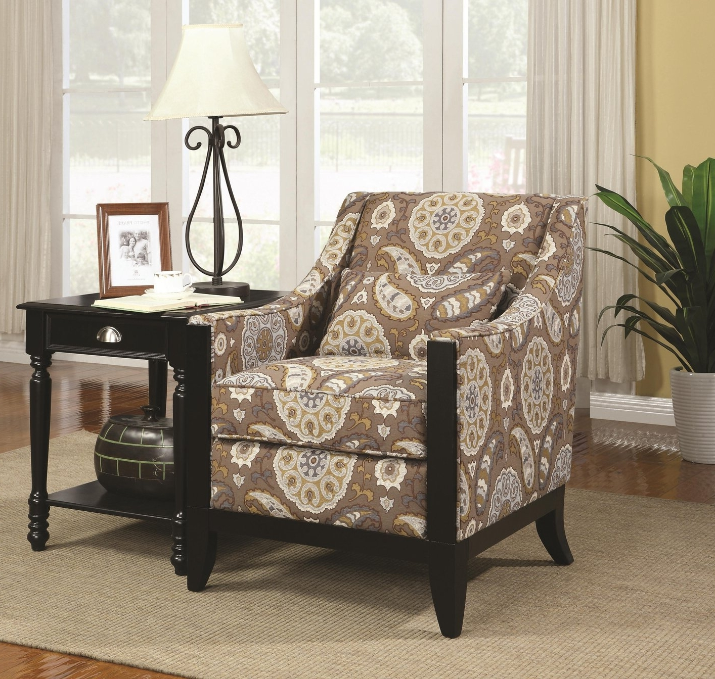 Brown Fabric Accent Chair – Steal A Sofa Furniture Outlet Los Inside Most Current Accent Sofa Chairs (View 13 of 20)