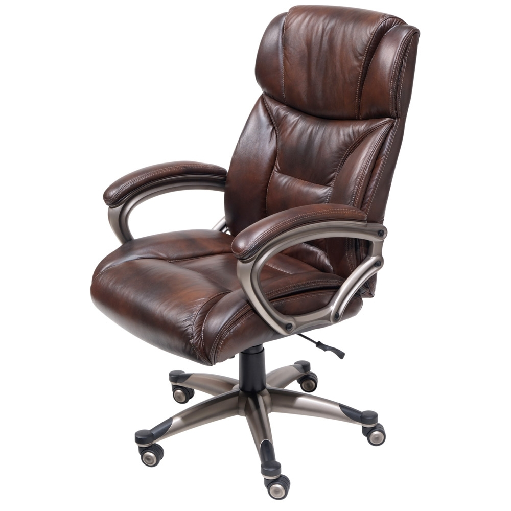 Brown Leather Executive Office Chairs Pertaining To Most Current Furnitures (View 5 of 20)