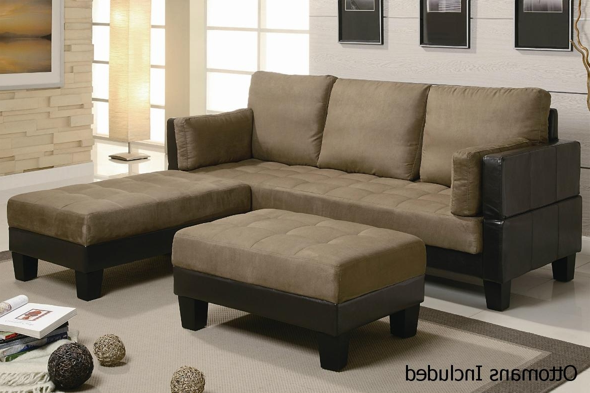 Brown Leather Sectional Sofa And Ottoman – Steal A Sofa Furniture Inside Well Liked Sectional Sofas That Turn Into Beds (View 7 of 20)