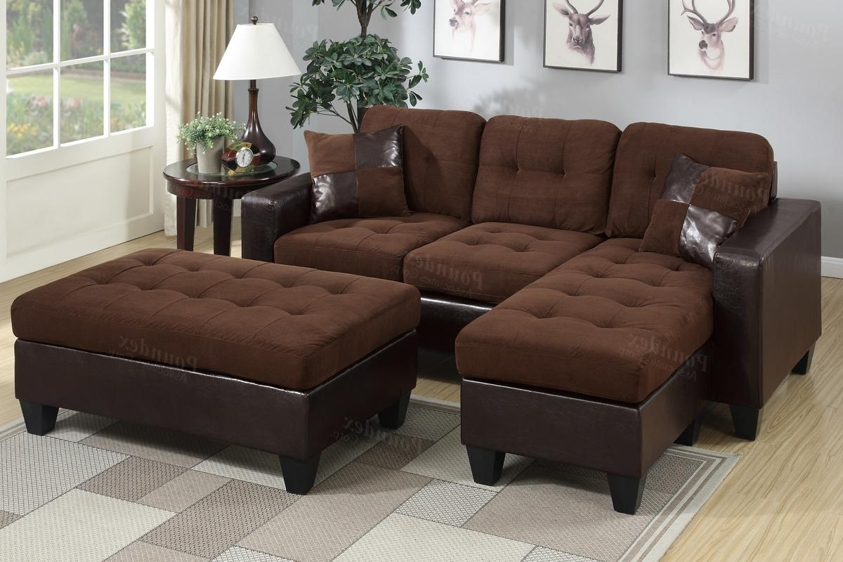Brown Leather Sectional Sofa And Ottoman – Steal A Sofa Furniture With Latest Sectional Sofas With Ottoman (View 4 of 20)