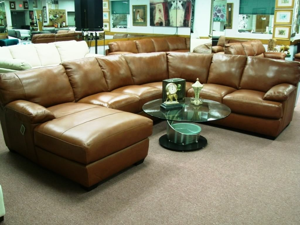 Brown Leather Sectional Sofa Clearance – Radiovannes Regarding Well Known Clearance Sectional Sofas (View 1 of 20)