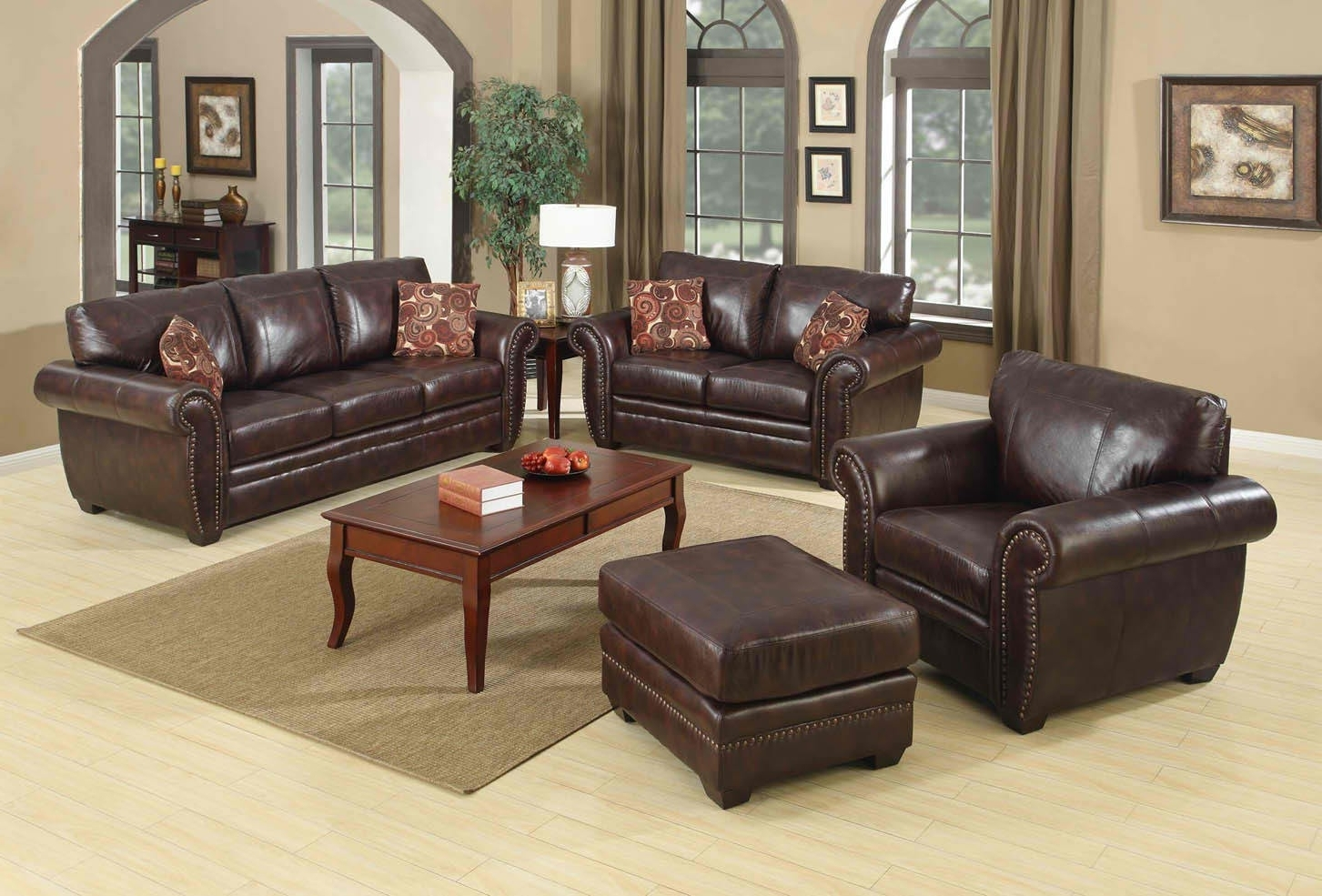 Brown Sofa Chairs Pertaining To Current Brown Sofa With Square Wooden Table Thats The Color Matches With (View 8 of 20)