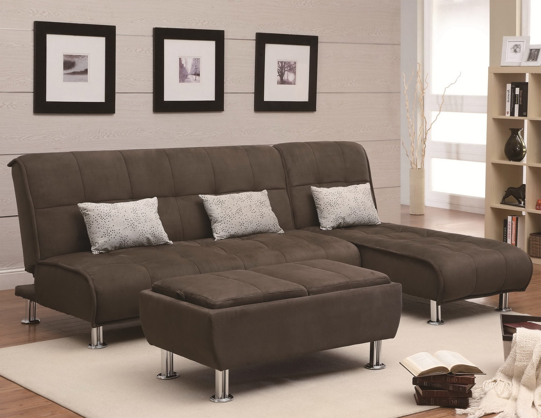 Brown Velvet Sectional Sofa With High Back And Grey Cushions Plus With Regard To Most Current Sectional Sofas With High Backs (View 5 of 20)