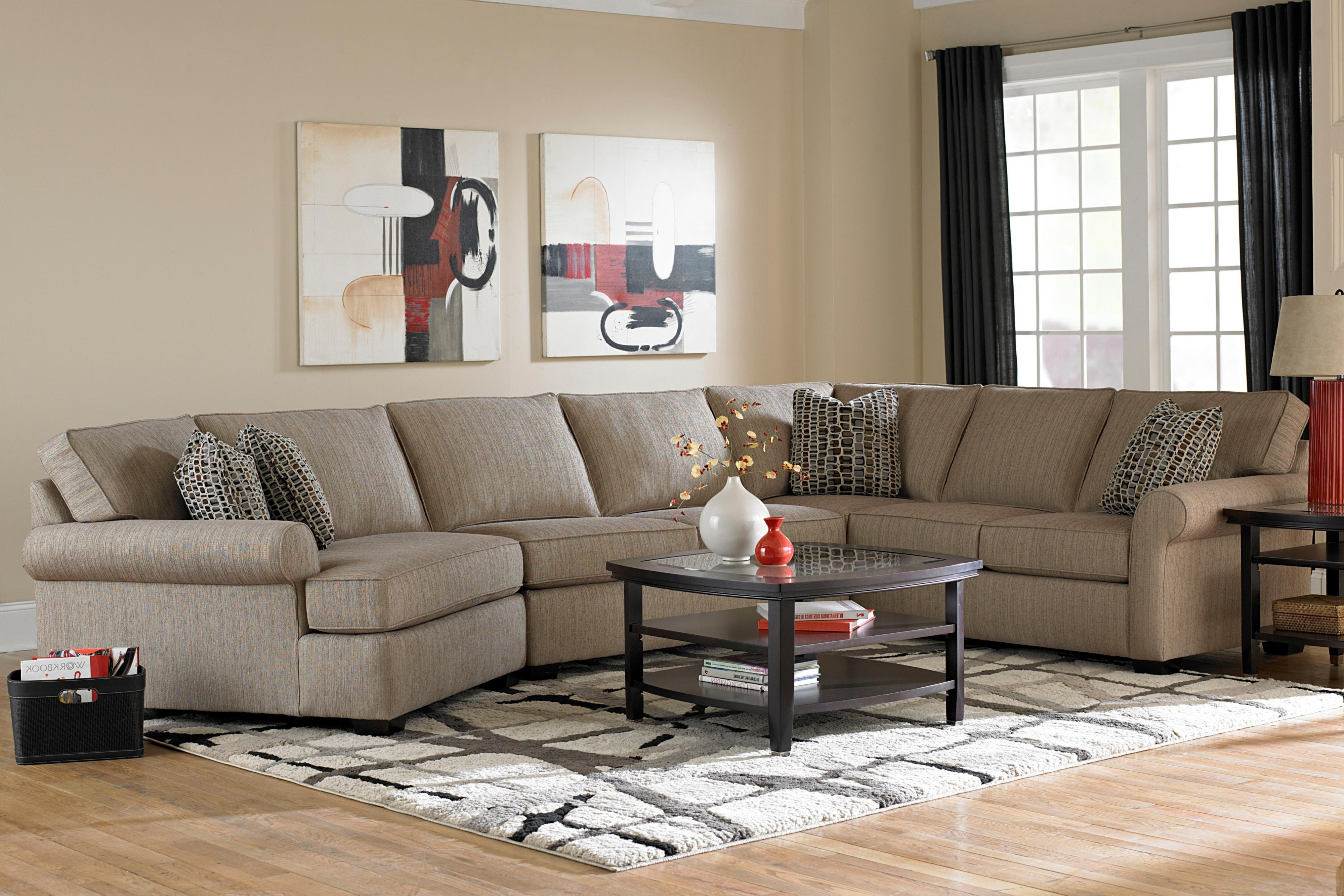 Broyhill Furniture Ethan Transitional Sectional Sofa With Right Within Fashionable Sectional Sofas In Greenville Sc (View 11 of 20)