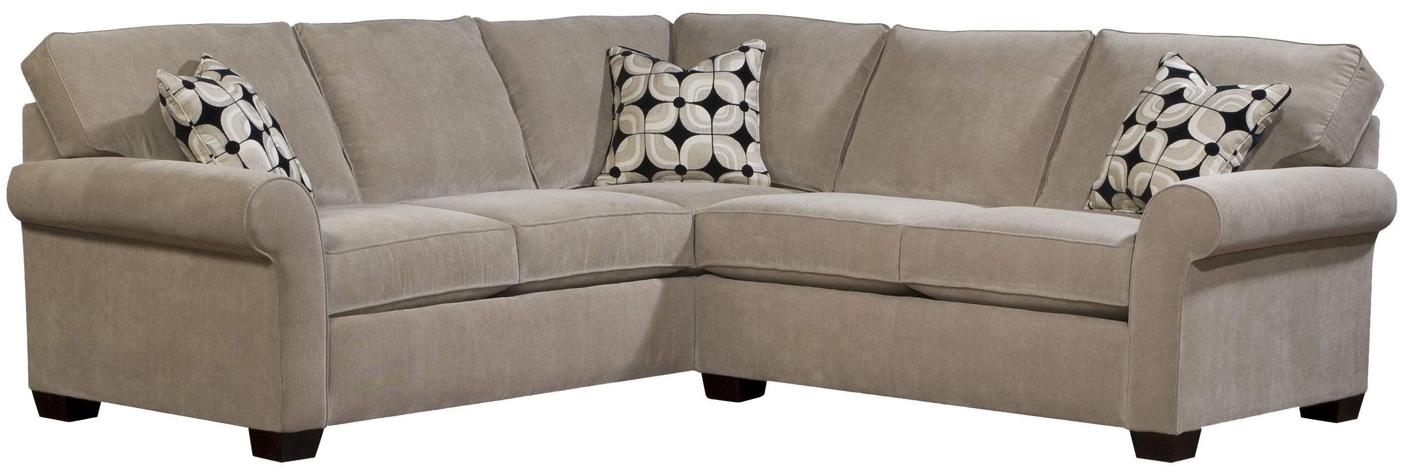 Bon Broyhill Furniture Ethan Two Piece Sectional With Laf Full Sleeper For Most  Recently Released Sam Levitz