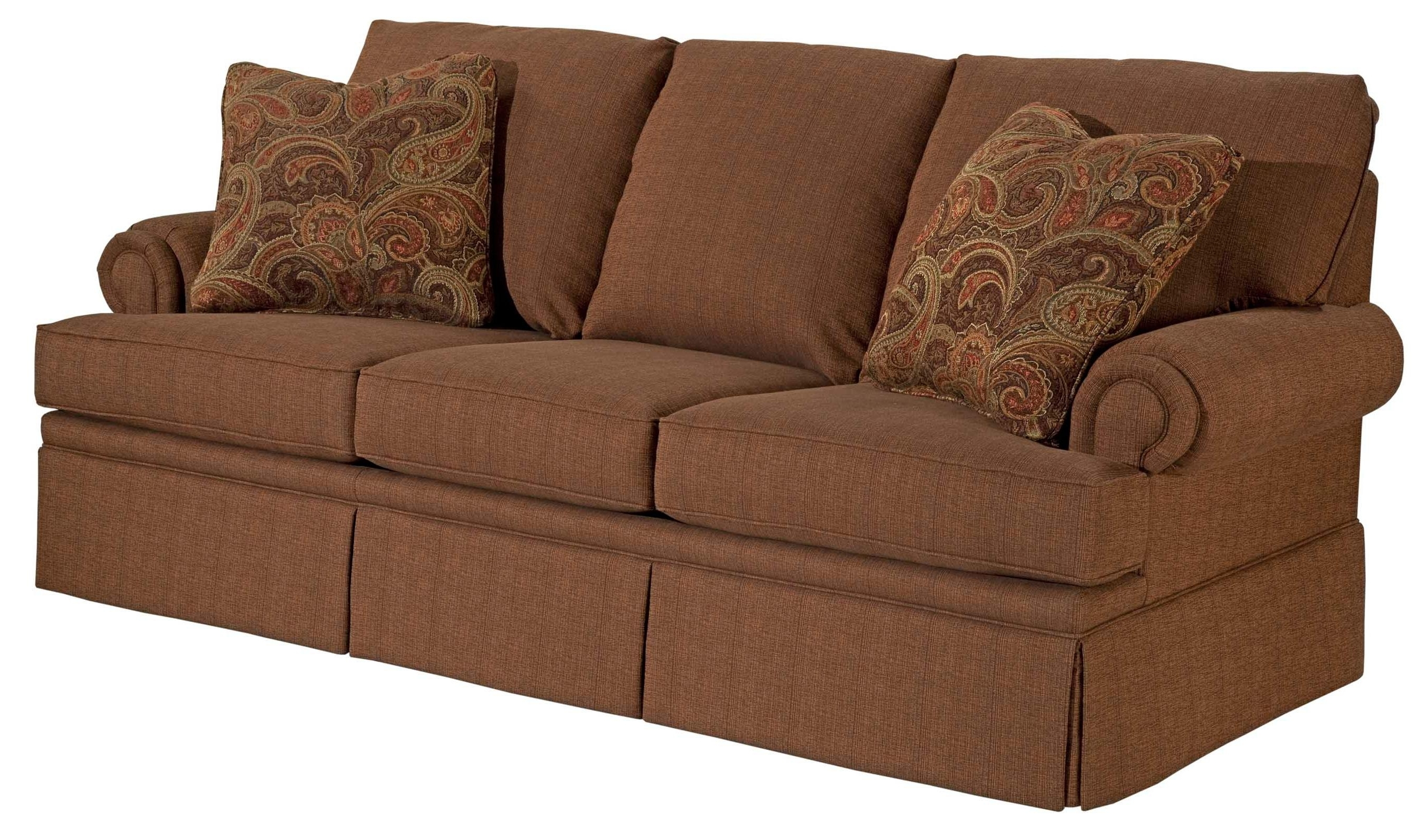 Broyhill Furniture Jenna Air Dream Sofa Sleeper With Queen Size Pertaining To Most Popular Quincy Il Sectional Sofas (View 1 of 20)