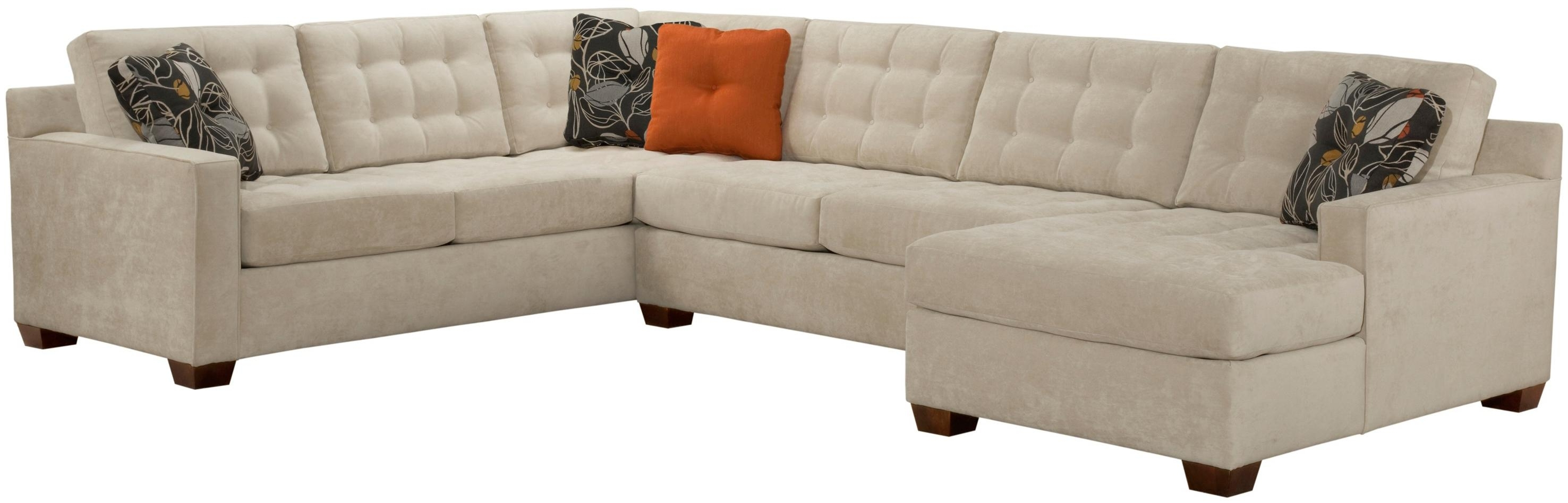 Broyhill Sectional Sofas Throughout Newest Broyhill Furniture Tribeca Contemporary Sectional Sofa With Left (View 9 of 20)