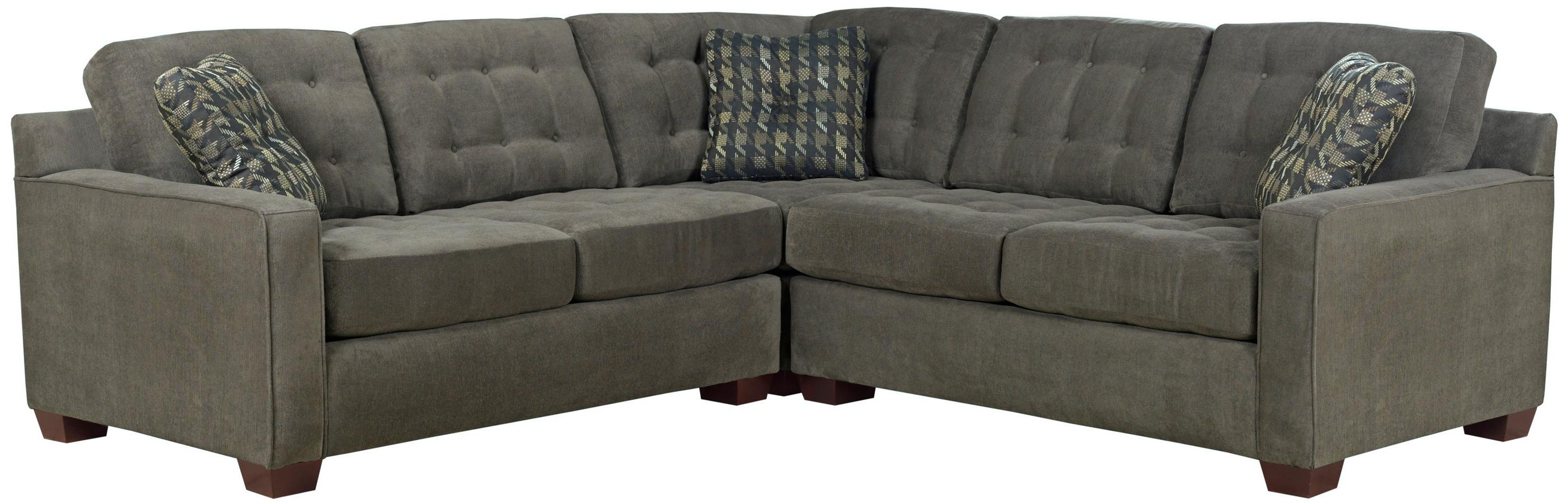 Broyhill Sectional Sofas With Widely Used Broyhill Furniture Tribeca Contemporary L Shaped Sectional Sofa (View 10 of 20)