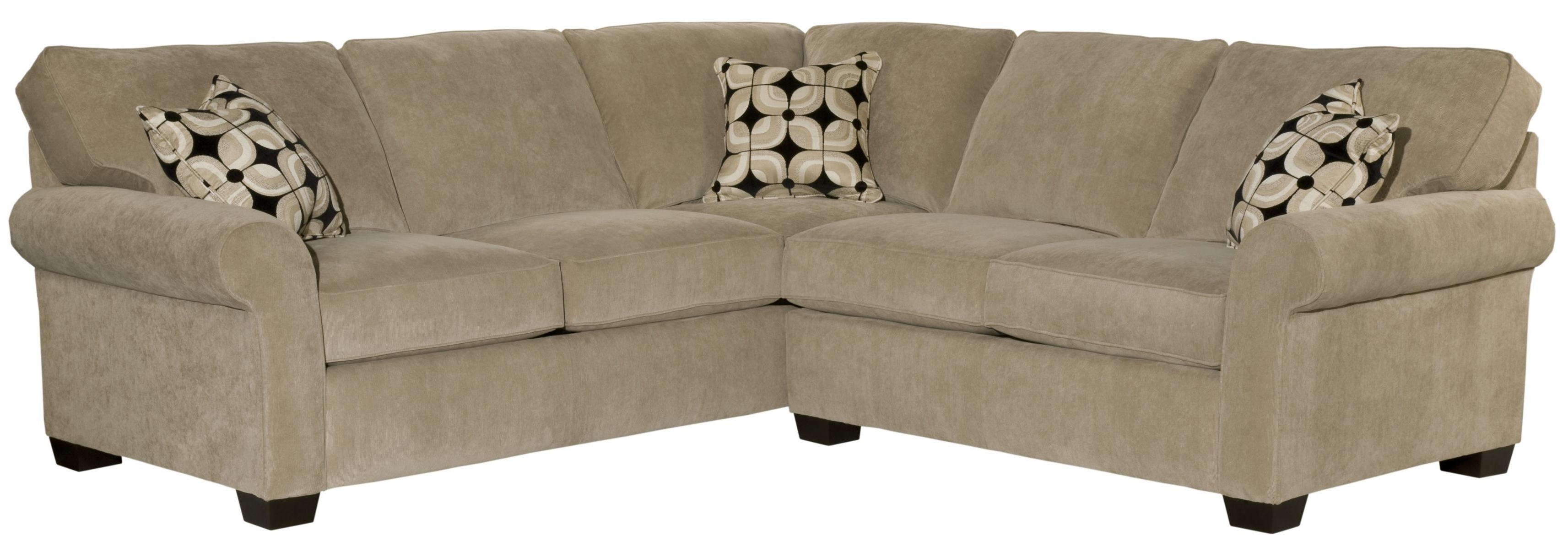 Broyhill Sectional Sofas Within Most Popular Broyhill Furniture Ethan Two Piece Sectional With Corner Sofa (View 11 of 20)