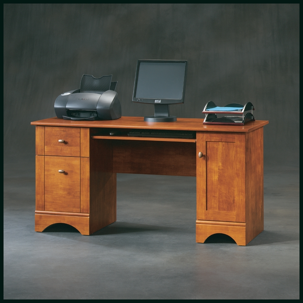 Brushed Maple Computer Desk 402375 In Recent Computer Desks (View 5 of 20)