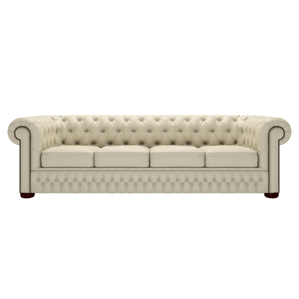 Buy A 4 Seater Chesterfield Sofa At Sofassaxon With Regard To Well Liked 4 Seat Leather Sofas (View 9 of 20)