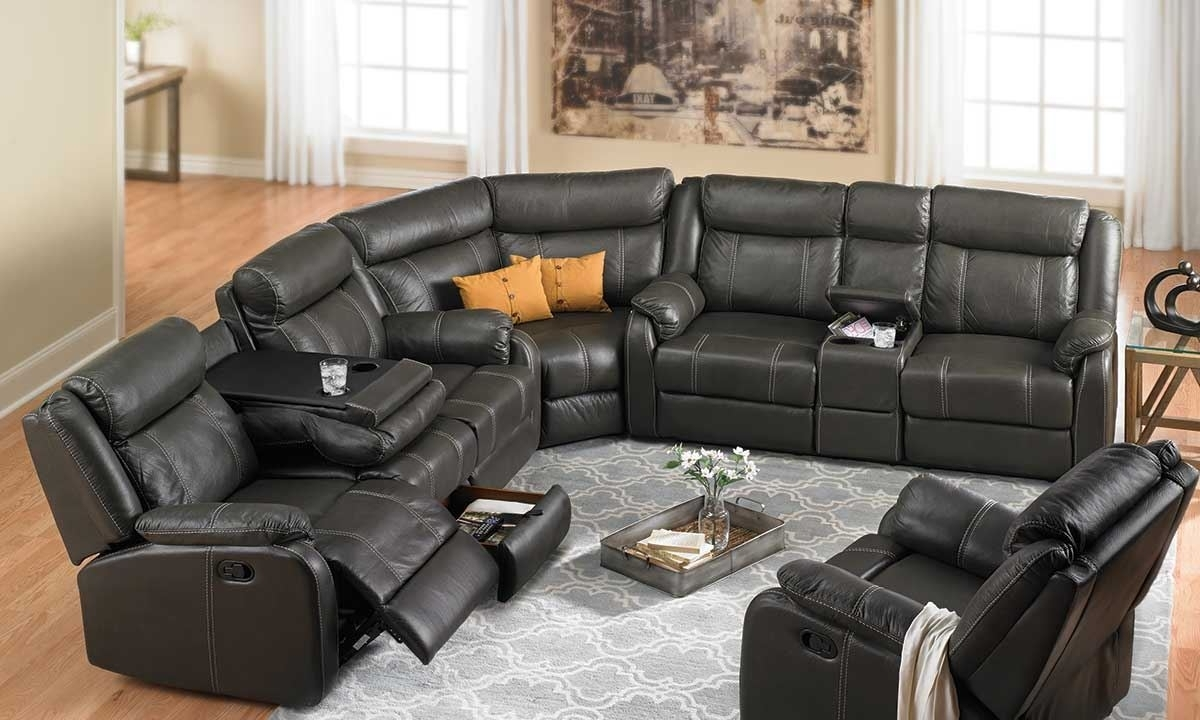 Cache Reclining Storage Sectional (View 2 of 20)
