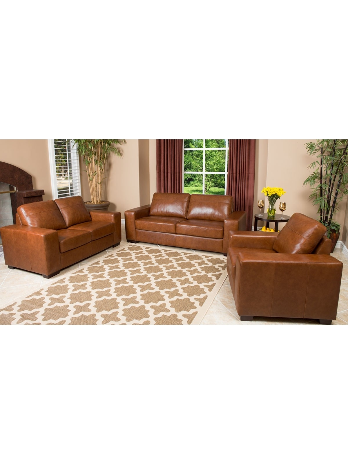 Camel Colored Sectional Sofas Regarding Favorite Leather Furniture Companies Pearce Camel Top Grain Couch F Living (View 11 of 20)