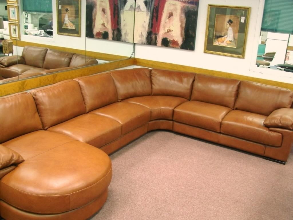Camel Colored Sectional Sofas Within Widely Used Natuzzi Editions Leather Sectionals B684, Cognac Leather Sale (View 13 of 20)