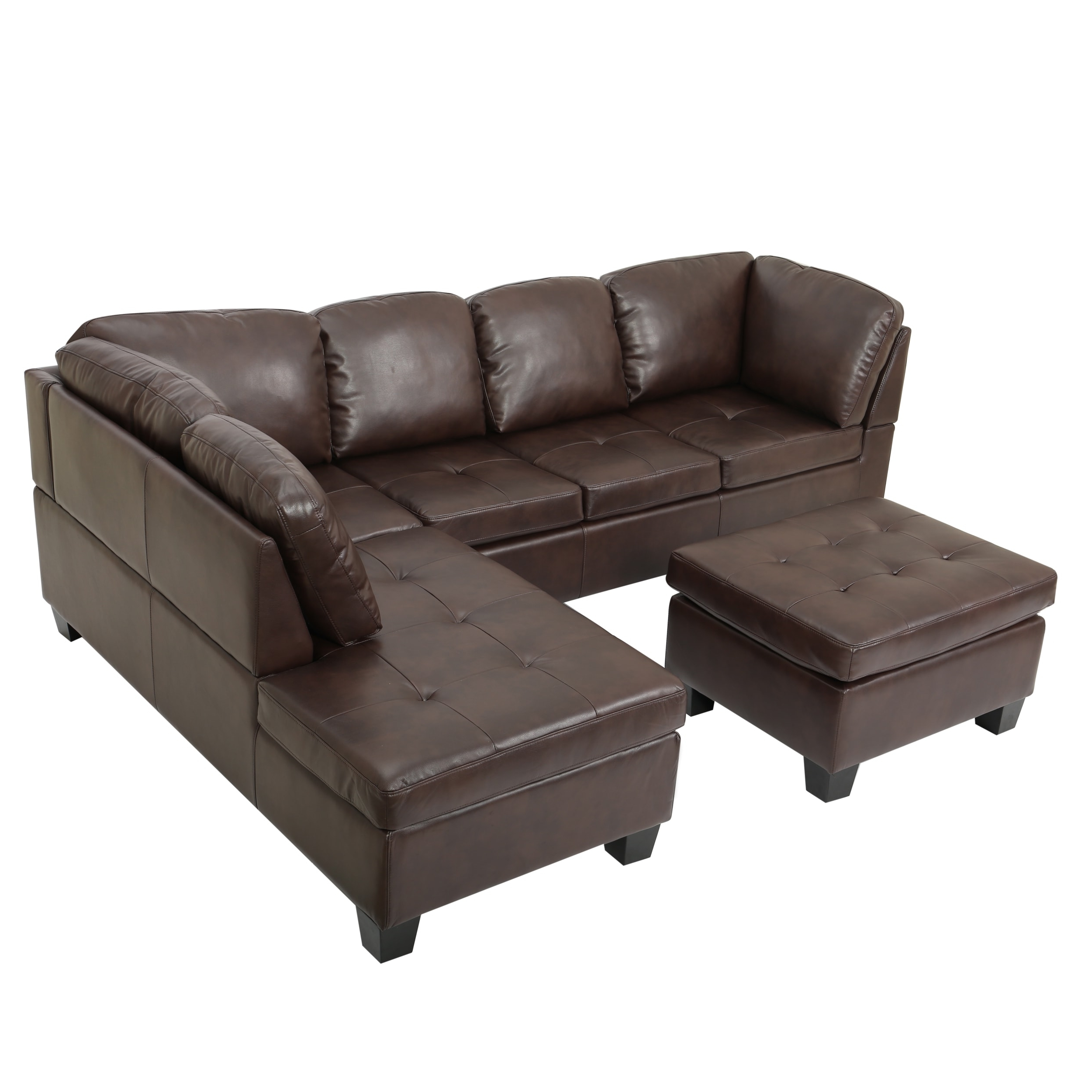Canterbury 3 Piece Pu Leather Sectional Sofa Setchristopher Within Widely Used Canterbury Leather Sofas (View 6 of 20)